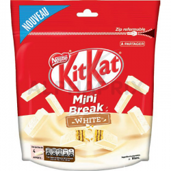~Kit kat mini break white sachet 104g en stock