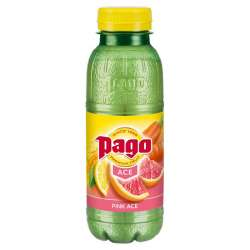 Pago pink ace (pamplemousse rose/carotte/citron) PET 33 cl en stock