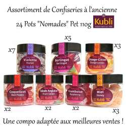 Assortiment de pots Nomade 110g assortis (7 parfums) en stock