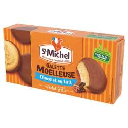 Galettes moelleuses nappées Chocolat lait St Michel 180g en stock