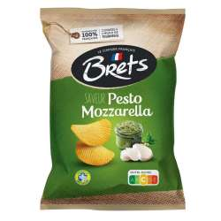 Chips Bret's Pesto Mozzarella 125g en stock