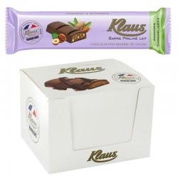 Barres praliné lait amandes caramélisées 35g Klaus en stock