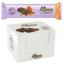Barres Praline Lait Croustillant Caramel 35g Klaus en stock