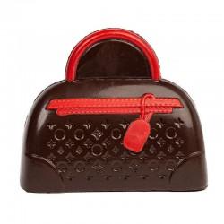 Coffret sac à main chocolat noir décore 145g en stock