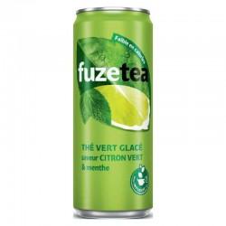 Fuze tea citron vert menthe boîte slim 33cl en stock