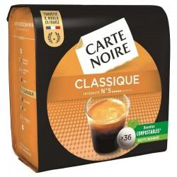 Dosettes Carte Noire classique n°5 (36 dosettes) en stock
