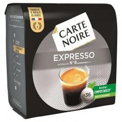 Dosettes Carte Noire Expresso n°8 (36 dosettes) en stock