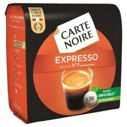 Dosettes Carte Noire Expresso n°11 (36 dosettes) en stock