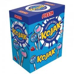 Sucettes Kojak gum Mûres colorent la langue Fiesta en stock