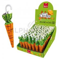 ~Parapluies carottes 12g en présentoir en stock
