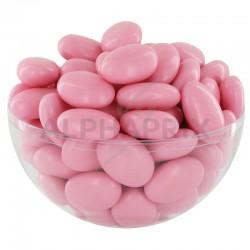 Dragées guimauve et chocolat noir ROSE NACRE - 1kg en stock