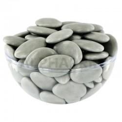 Dragées chocolat 54% couleur GRIS LUNE - 1kg en stock
