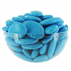 Dragées chocolat 54% couleur BLEU TURQUOISE - 1kg en stock