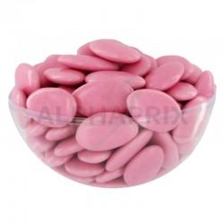 Dragées chocolat 54% couleur ROSE nacré - 1kg en stock
