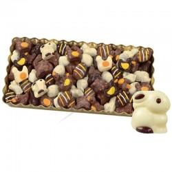 ~Plateau Figurines de Pâques colorées pralinés kg en stock