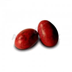 Pralissimo Amande grillée, chocolat noir et praliné ROUGE moucheté - 1kg