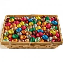~Oeufs chocolat Sous Alu 11g en corbeille de 2.5kg en stock