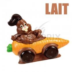 ~Moulage Lapin Carotte Enzo chocolat lait 17cm 250g en stock