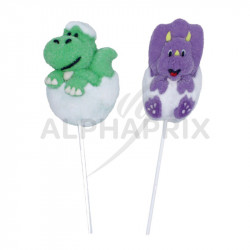~Display 12 Sucettes marshmallow Dinosaures 35g en stock