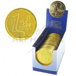 Médaillon pièce euro s/alu chocolat 21g (8cm)