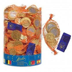 Filets pièces euro chocolat en tubo de 60