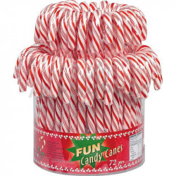 Candy canes rouges et blanches