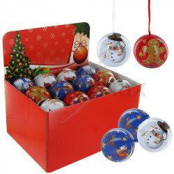 Boules de Noël garnie pièces chocolat 36g