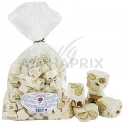Nougats blancs durs aux amandes - sachet de 750g en stock