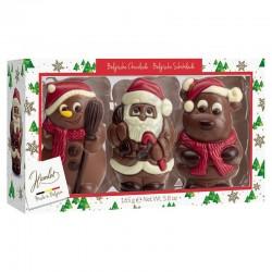 Coffret figurines Noël en boîte de 3 ass. 165g