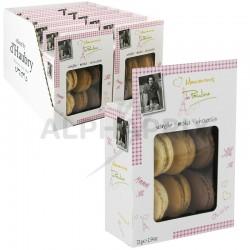 Barquette macarons vanille chocolat moka 72g
