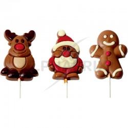 Sucettes Noël chocolat assorties 36g