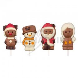 Sucettes Noël chocolat assorties 25g