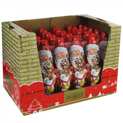 Pères Noël chocolat au lait s/alu 60g (17 cm) Jacquot