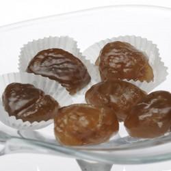 Marrons glacés nus caissettes plateau kg en stock