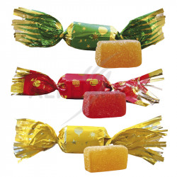 Papillotes pâtes de fruits vrac 4.7kg Cémoi