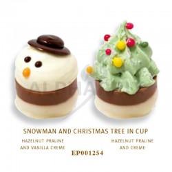 Bonhommes de neige et arbres de Noël pralinés kg Ickx