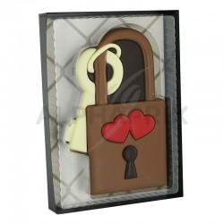 Cadenas et sa clef en chocolat décoré 80g