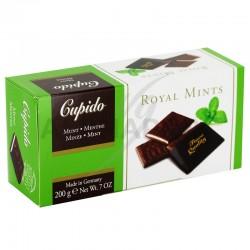 Plaquettes chocolat. noir à la crème de menthe - 200g en stock