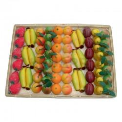 Plateau Pâte d'Amandes Fruits Luxe 1,7kg (68 pces)