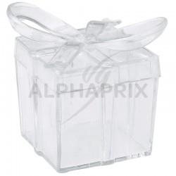 Boîtes Transparentes noeud par 4 en stock