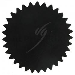 Tulles dentelés cristal noir par 50 en stock