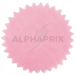 Tulles dentelés cristal rose par 50 en stock