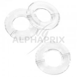 Anneaux transparents (socle pour boules/gouttes) par 10 en stock