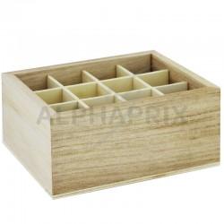 Présentoir en bois Naturel 12 compartiments en stock