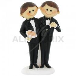 Hommes en couple PM H. 10cm en stock