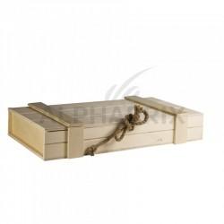 Coffre en bois naturel en stock