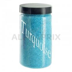 Sable déco TURQUOISE - 500g en stock