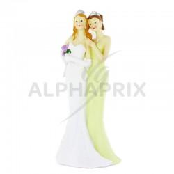 Statuette couple de Femmes GM H. 22cm en stock
