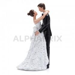 Statuette couple de mariés couture en stock