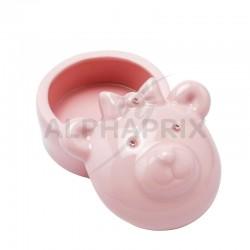 Boîte à dents ourson rose en stock